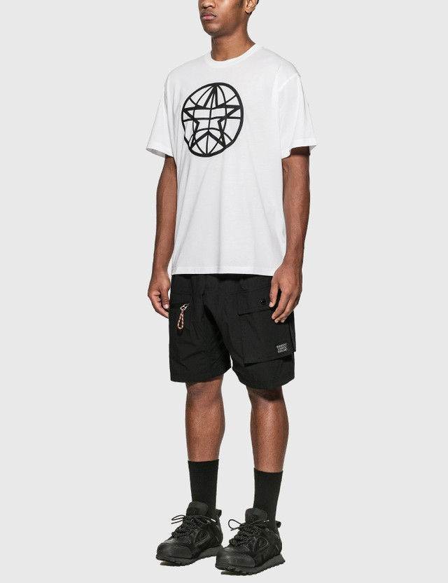 Burberry Globe Graphic Cotton Oversized T-Shirt White Men