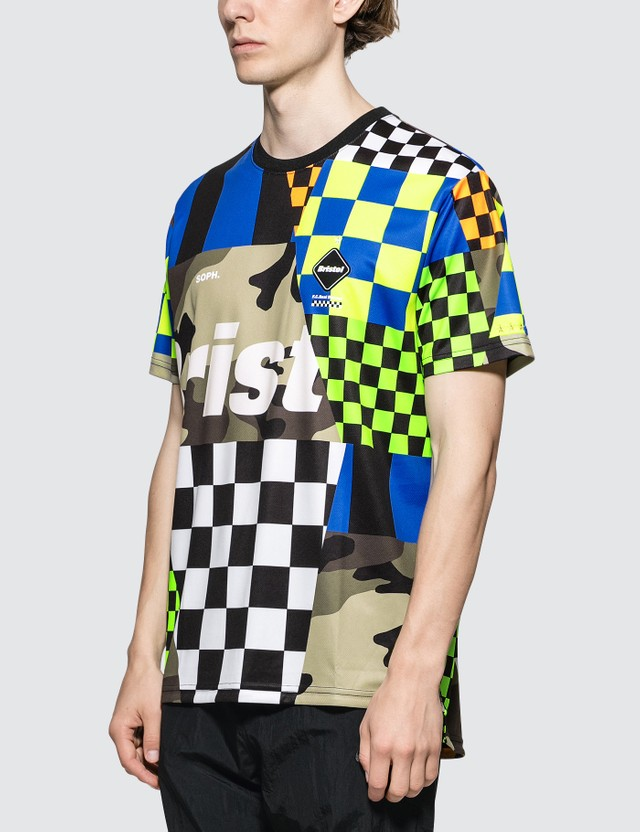 F.C. Real Bristol Multi-Pattern S/S T-Shirt Multi Men