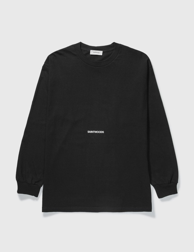 Saintwoods Saintwoods Logo Long Sleeve T-shirt Black Men