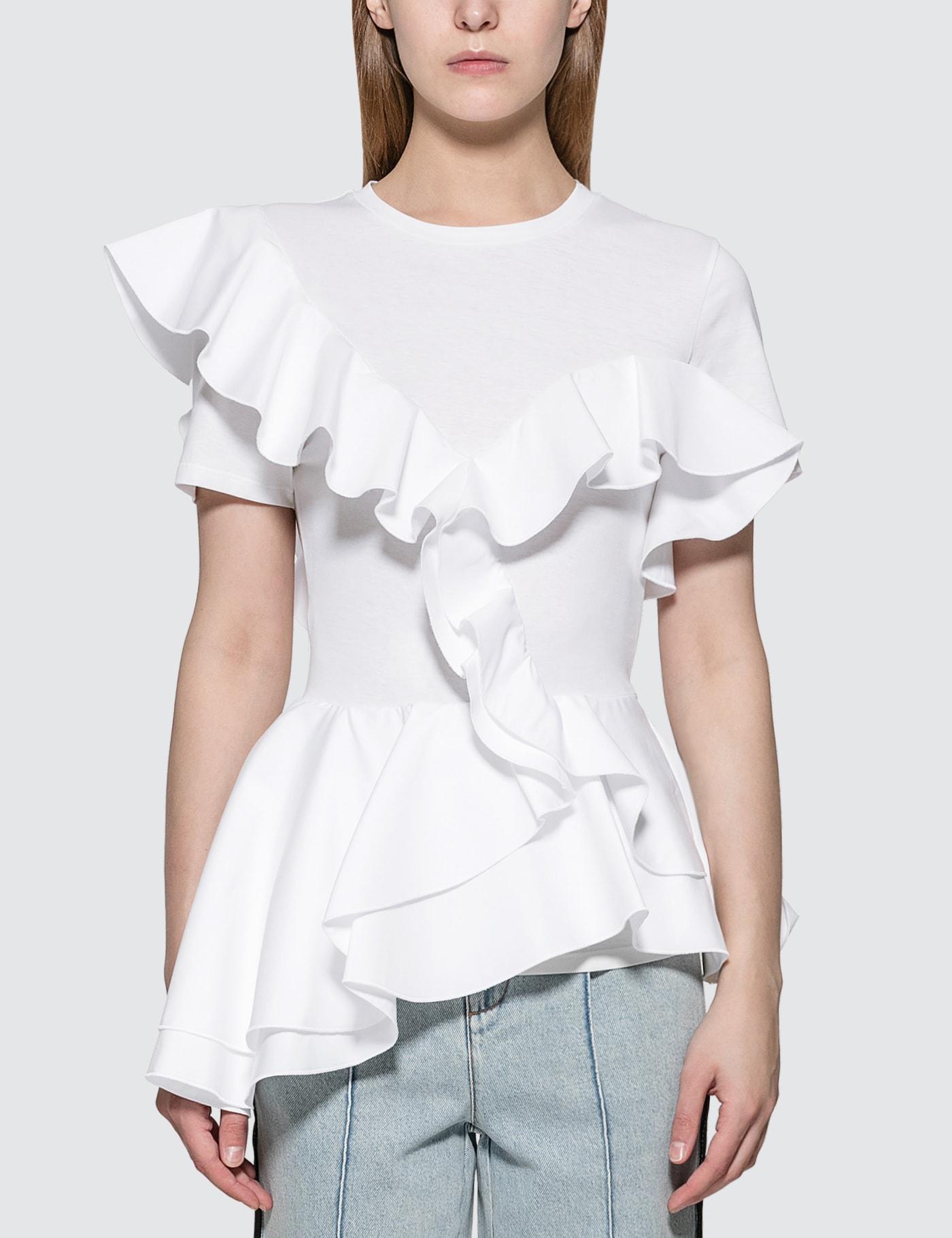 Alexander McQueen Peplum Ruffle T-shirt 사진