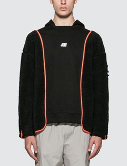 Ader Error Logo Hoodie With Shearing Sleeves