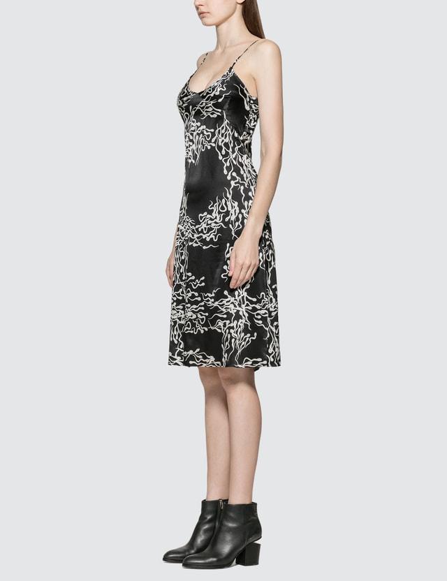 Ashley Williams Slip Sperm Print Silk Dress