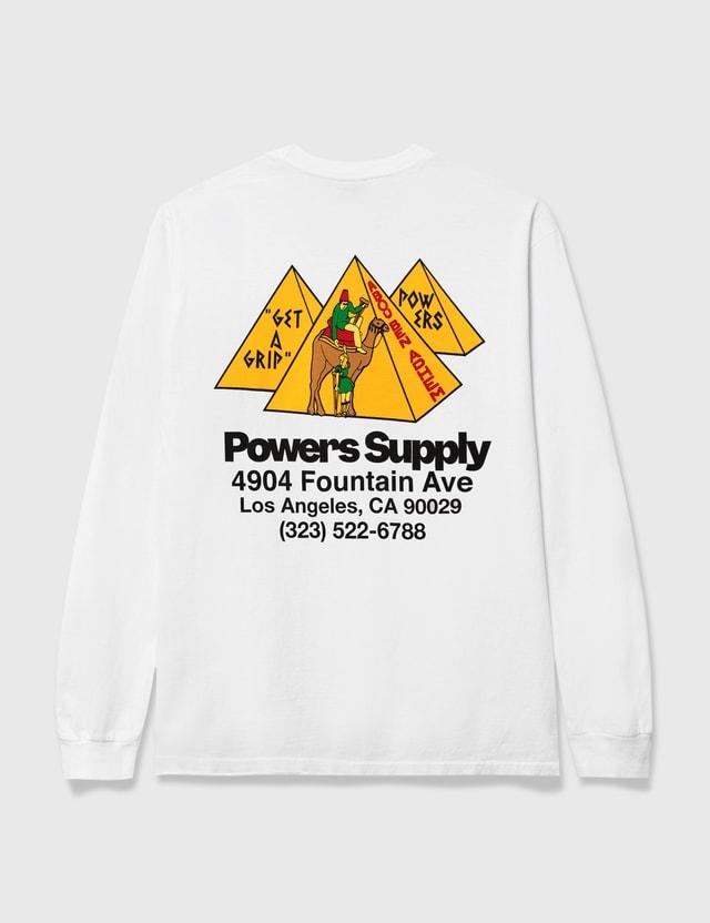 Powers Get A Grip Shop Long Sleeve T-shirt White Men