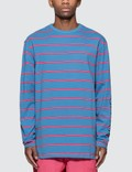 Pleasures Scream Striped Long Sleeve T-Shirt Picture