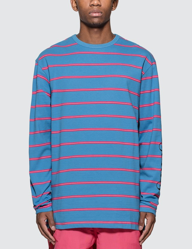 Pleasures Scream Striped Long Sleeve T-Shirt