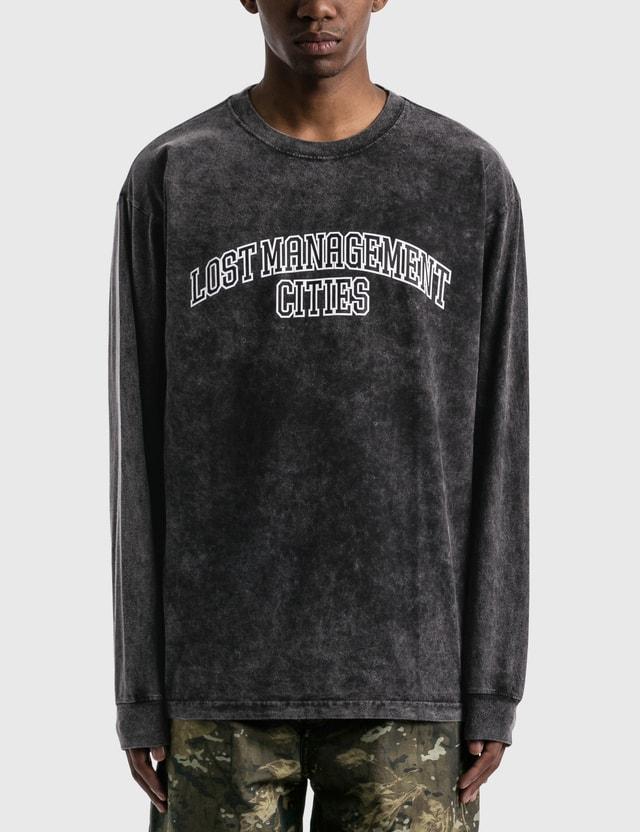 LMC LMC Acid Washed Arch FN Long Sleeve T-shirt Black Men
