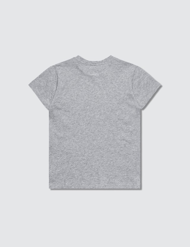 MSGM K's Grey Brush Stroke Logo Print T-Shirt