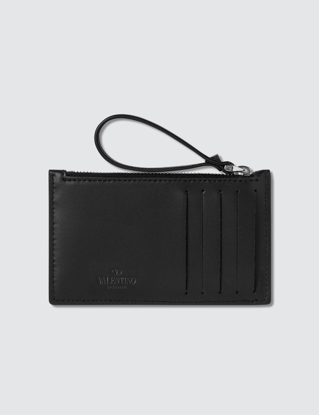 Valentino VLTN Logo Zip Card Holder