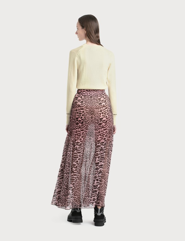 Ganni Pleated Georgette Maxi Skirt