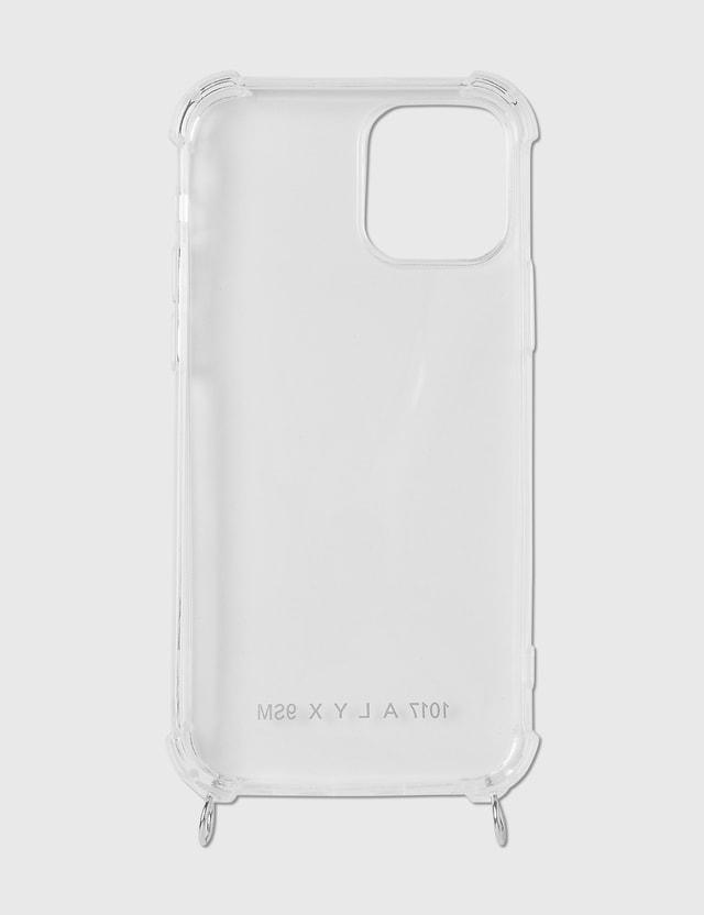 1017 ALYX 9SM IPHONE Case 12 with leather Iphone Bracelet + buckle Trasparent/black Men