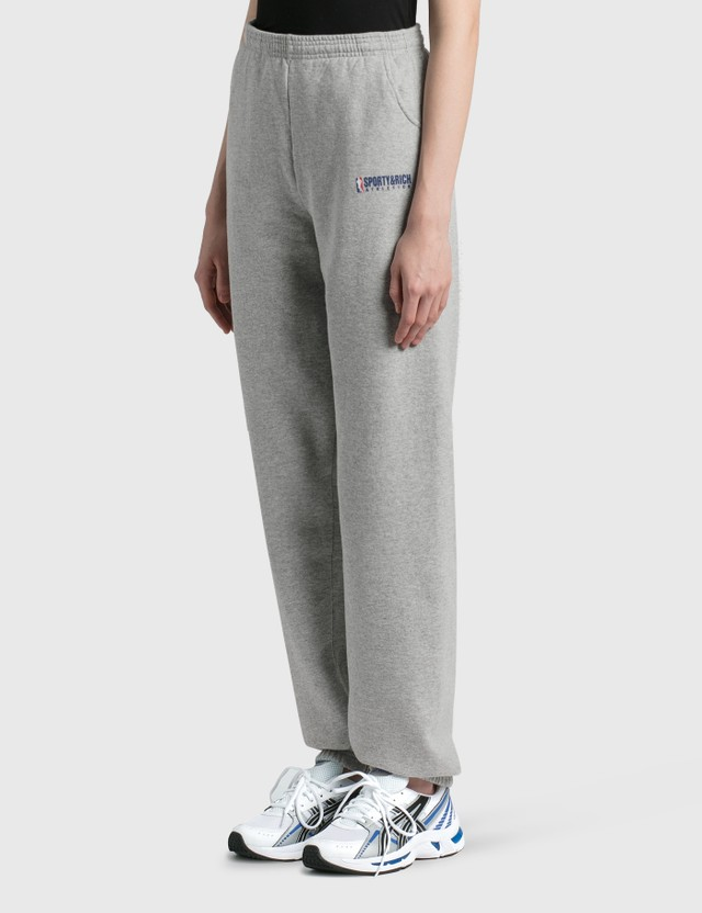 Sporty & Rich Team Logo Sweat Pants Heather Gray/blue & Red Women