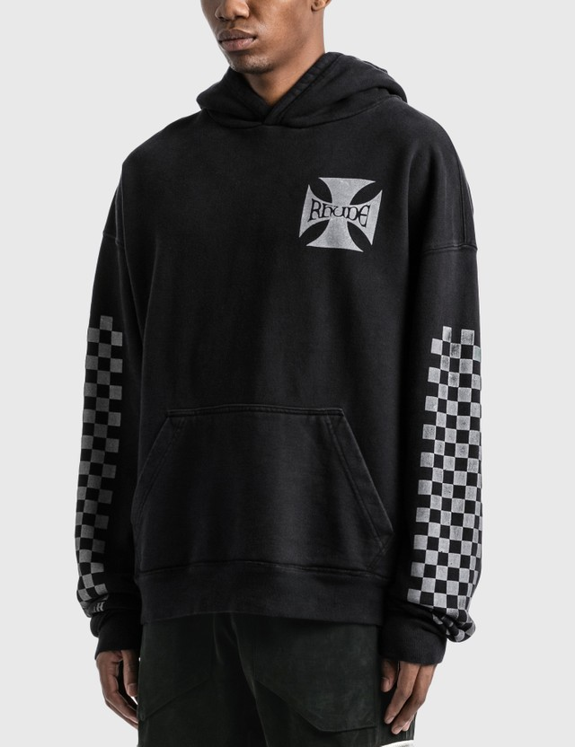 Rhude Classic Checkers Hoodie Black Men
