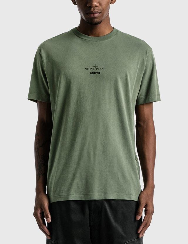 Stone Island Archive Print T-shirt Sage Men
