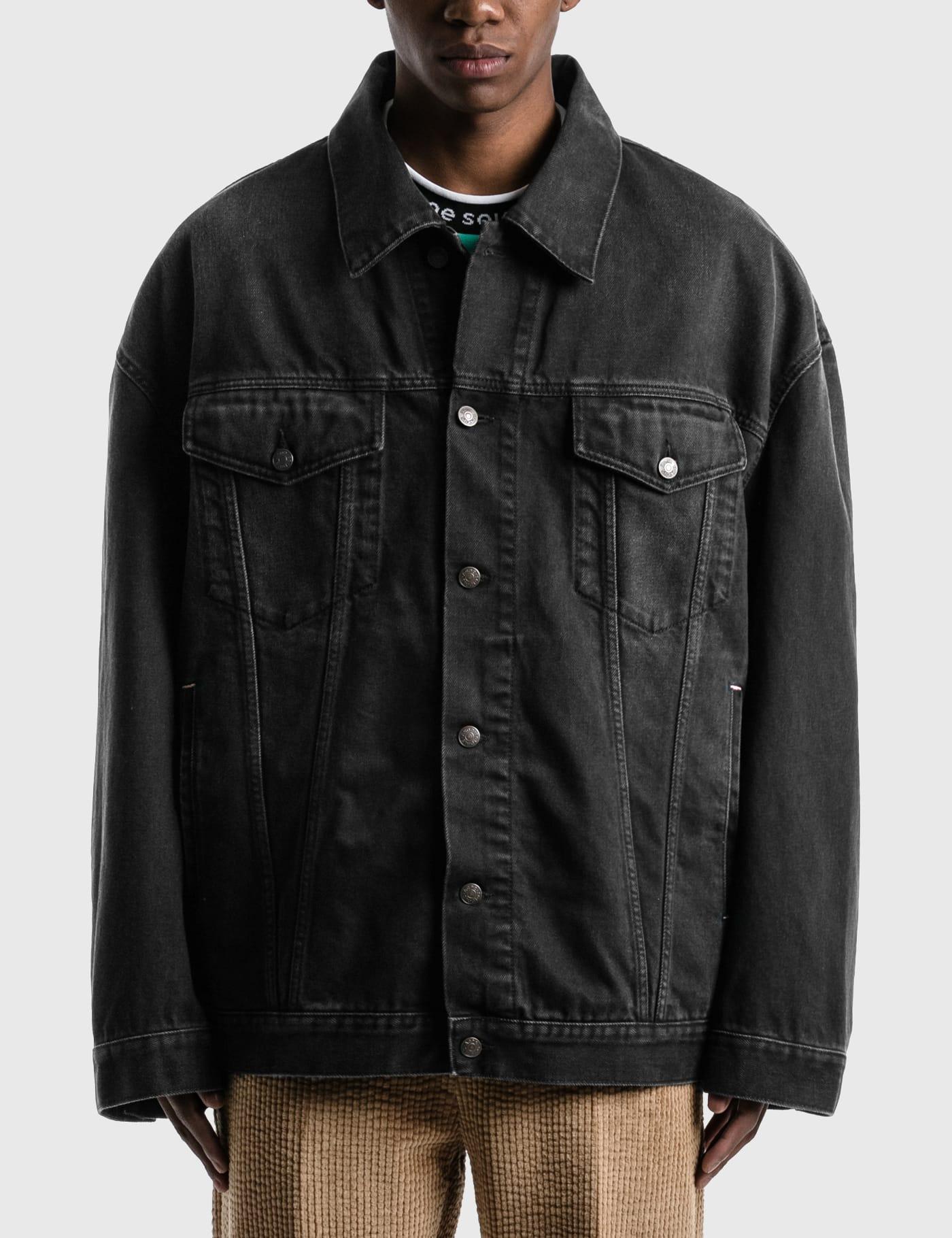 Morris Washed Out Black Denim Jacket
