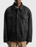 Acne Studios Morris Washed Out Black Denim Jacket Picutre