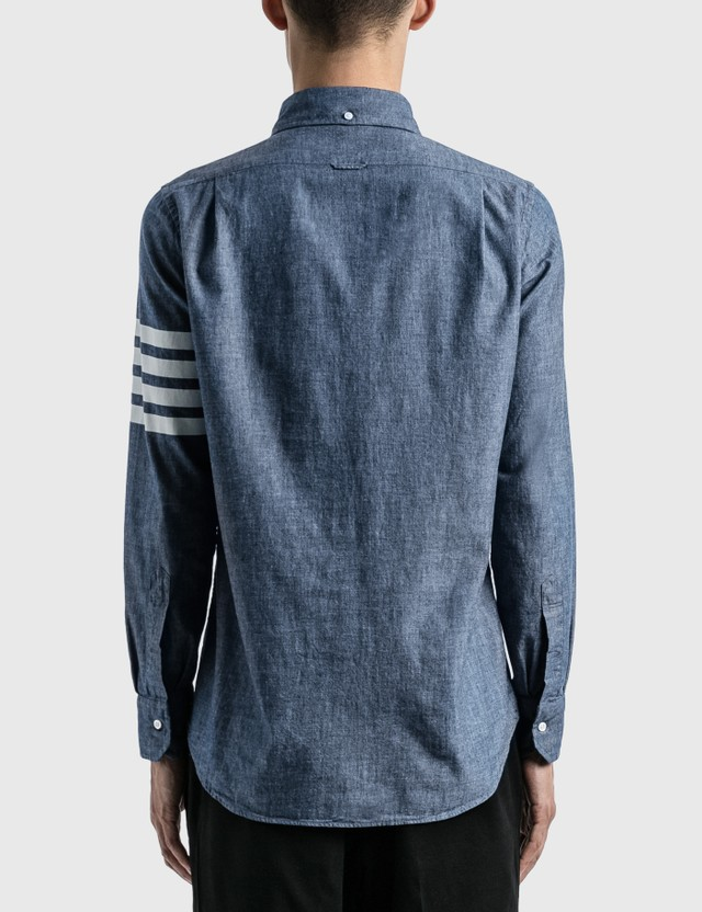 Thom Browne 4-Bar Chambray Shirt Blue Men