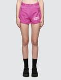 MSGM Devore' Solid Color Bull Denim Shorts Picutre