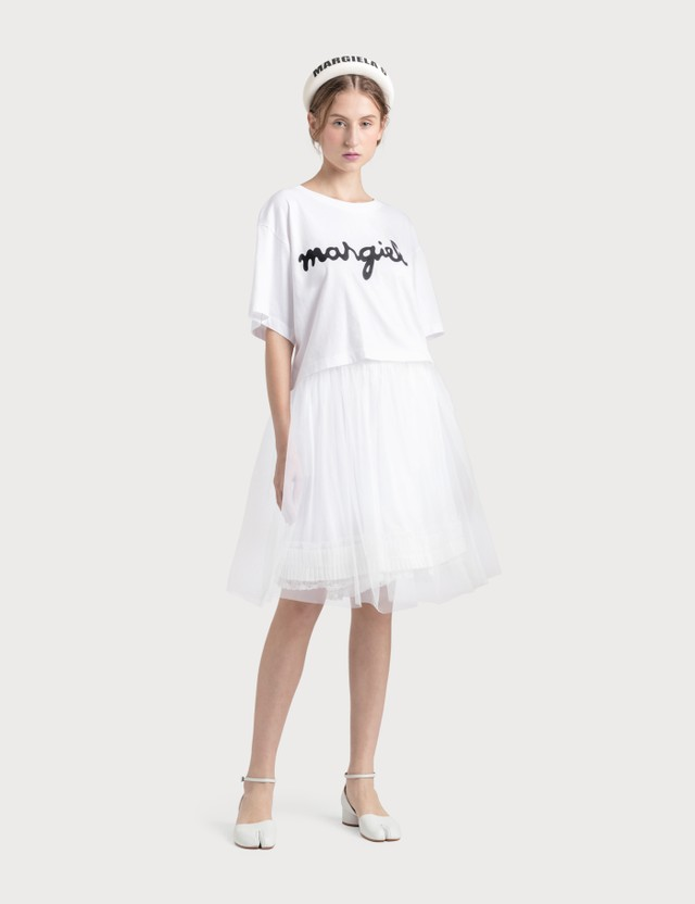 MM6 Maison Margiela Logo Cropped T-shirt