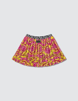 Versace Fluo Barocco Pleated Skirt (Kids)