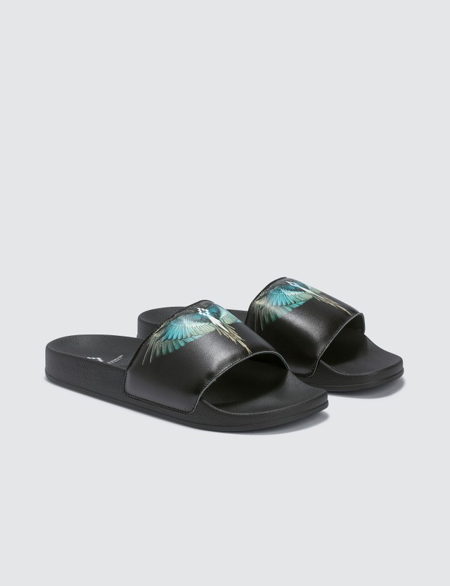 Marcelo Burlon Turquoise Wings Slider