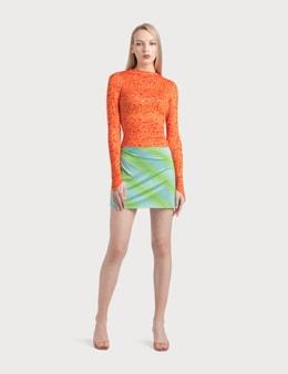Maisie Wilen Ruched Miniskirt
