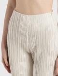 Nanushka Char Pleated Vegan Leather Pants CrÈme Pleat Women