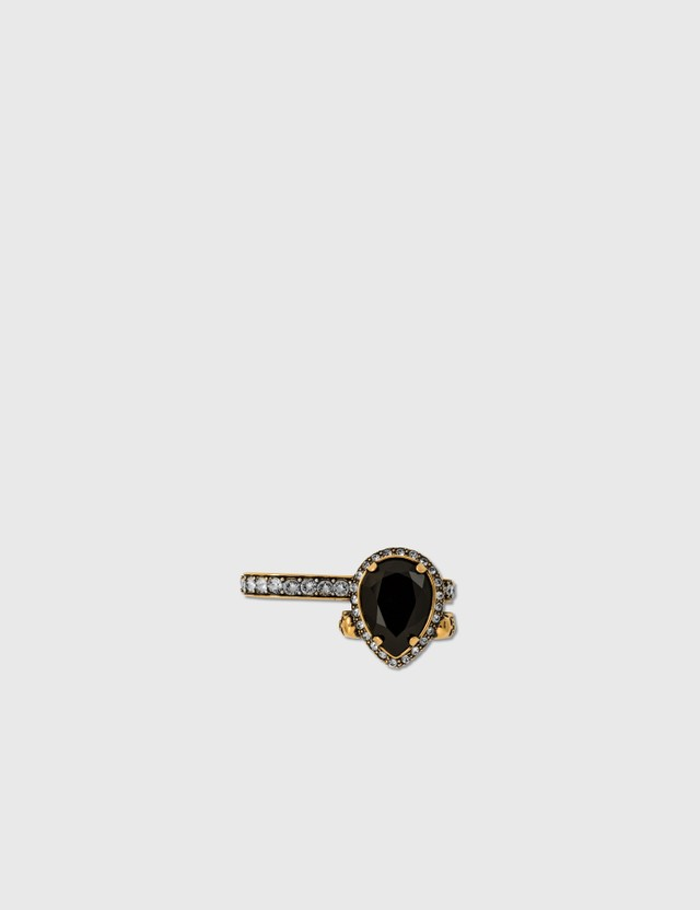 Alexander McQueen Jewelled Droplet Pendant Double Ring Mix Women