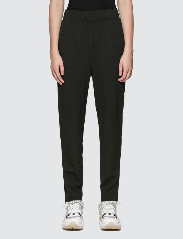 Ganni Heavy Crepe Pants Black Women