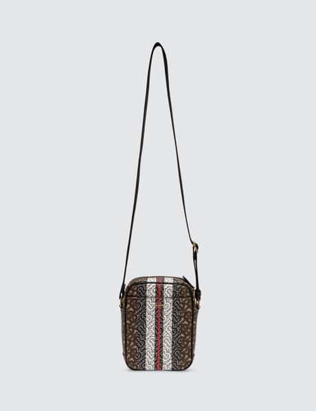 버버리 모노그램 스트라이프 크로스바디백 Burberry Monogram Stripe Print E-canvas Crossbody Bag