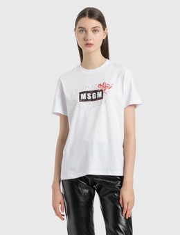 MSGM Angel Logo T-Shirt
