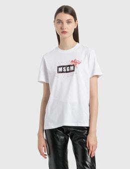 MSGM Angel Logo T-Shirt