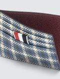 Thom Browne Gun Check Tartan Note Cardholder