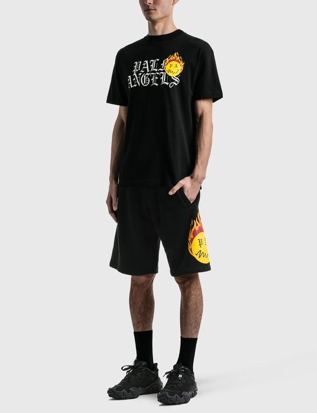 Palm Angels Burning Head Sweat Shorts Black Men