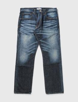 BAPE Bape Washed Ape Print Jeans