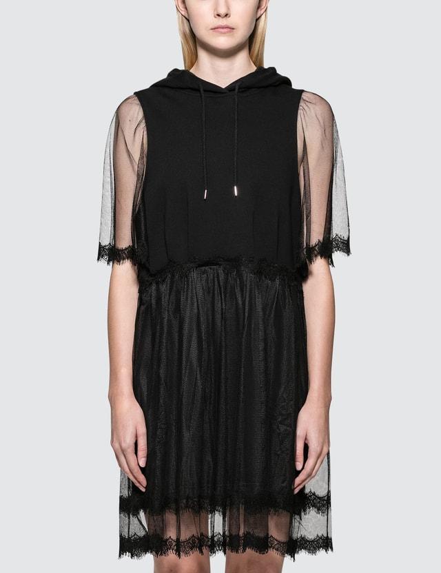 McQ Alexander McQueen Hybrid Hoodie Dress
