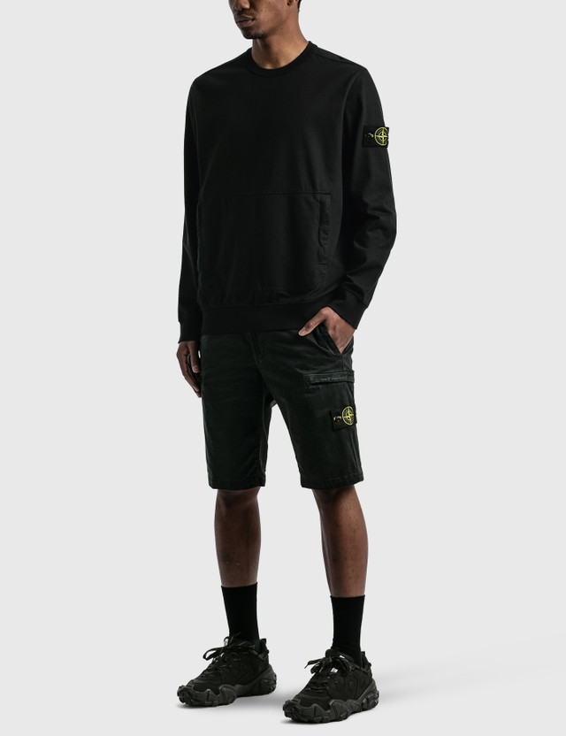 Stone Island Sweatshirt With Pocket Black  Men