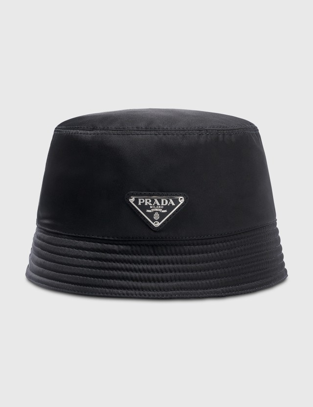 Prada Prada Logo Nylon Bucket Hat Nero Men