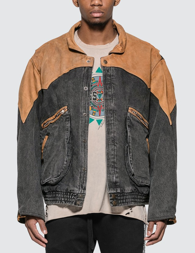 Alchemist Guess x Alchemist Leather Denim Jacket