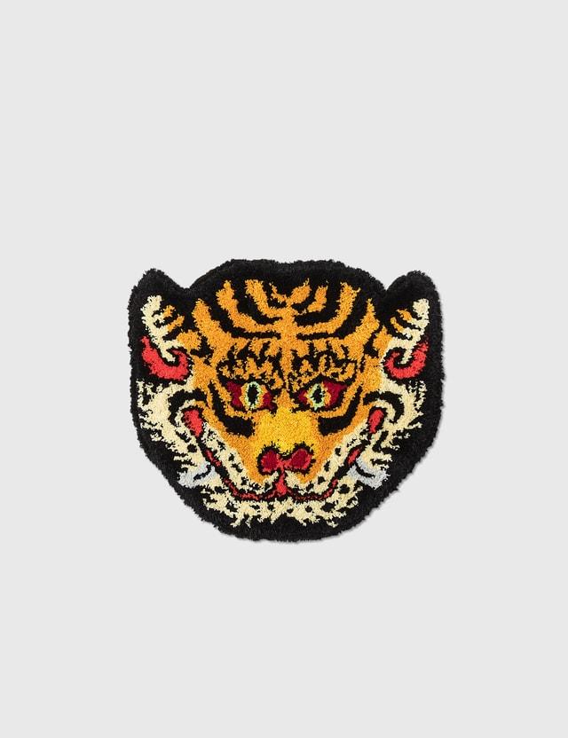 RAW EMOTIONS Mascot Tiger Head Rug Yellow Unisex