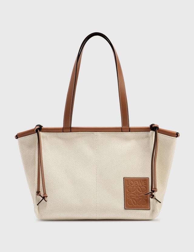 Loewe Small Cushion Tote Bag Light Oat Women