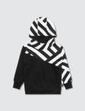 NUNUNU Part Striped Hoodie Picutre