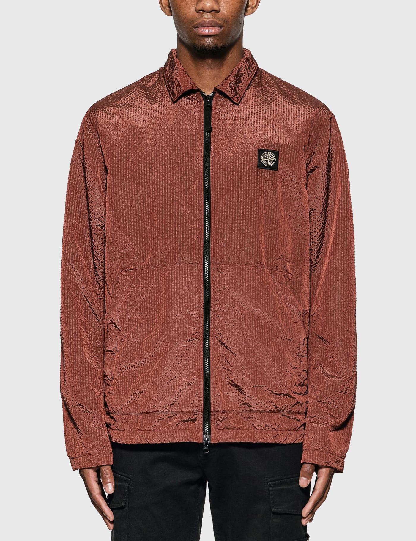 Nylon Zip Overshirt Jacket