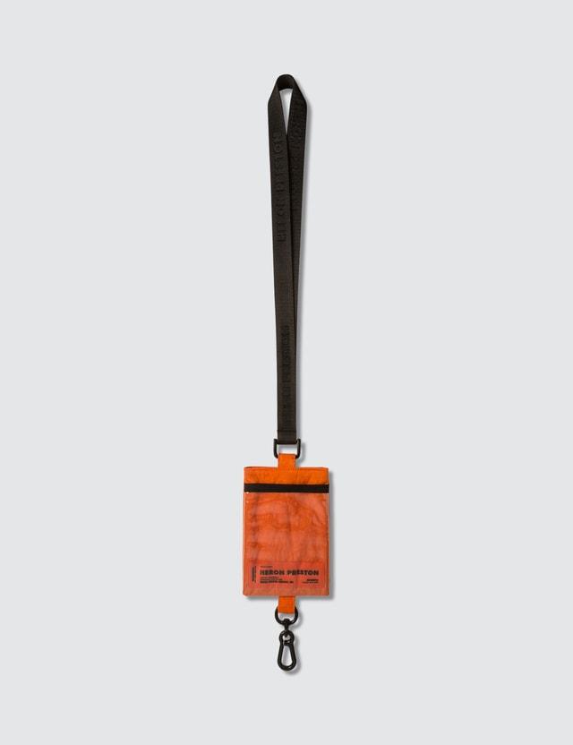 Heron Preston Passport Keychain Holder Orange Men