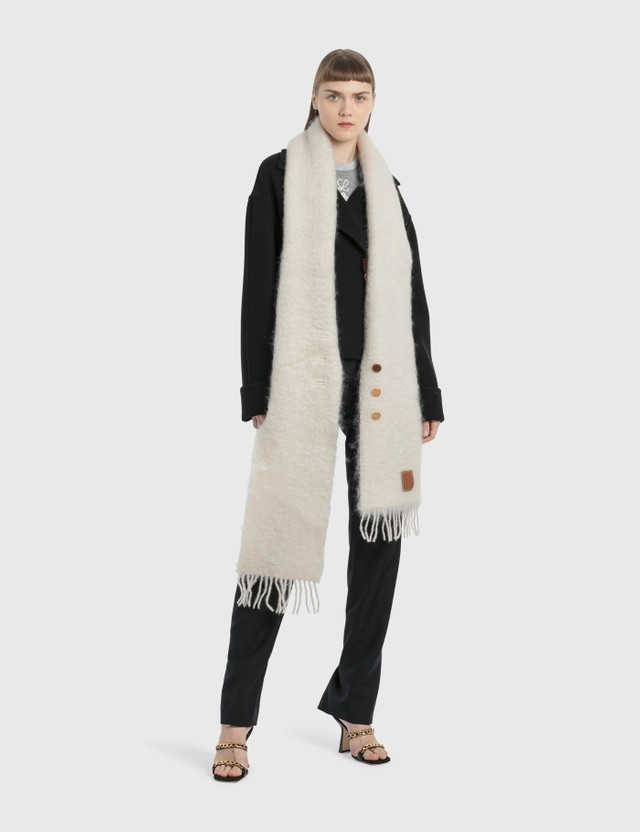 Loewe Buttoned Scarf