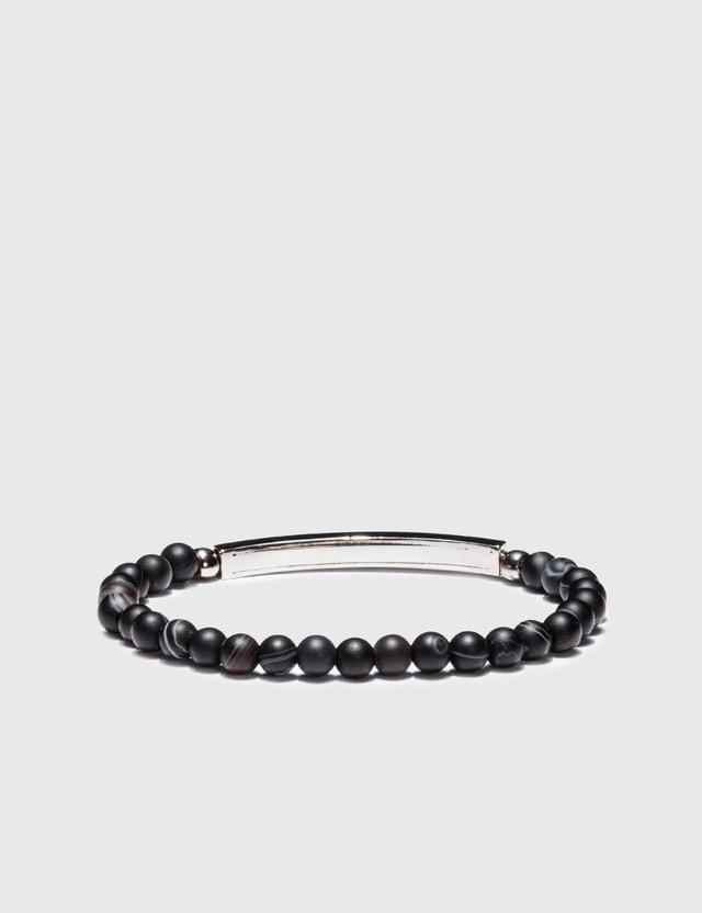 Alexander McQueen Beaded Skull Bracelet Black 0446 Men