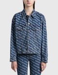 Alexander Wang.T All-over Logo Printed Denim Jacket Picutre