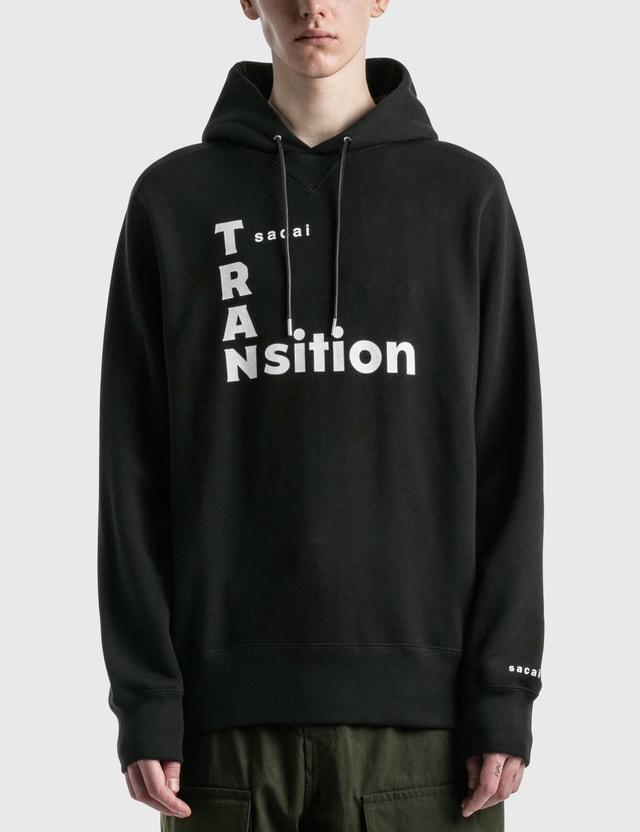 Sacai TRANsition Hoodie Black X White Men