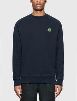 Maison Kitsune Neon Fox Patch Clean Sweatshirt