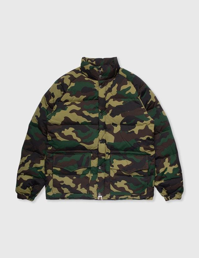 BAPE Bape Camo Down Jacket Green Archives