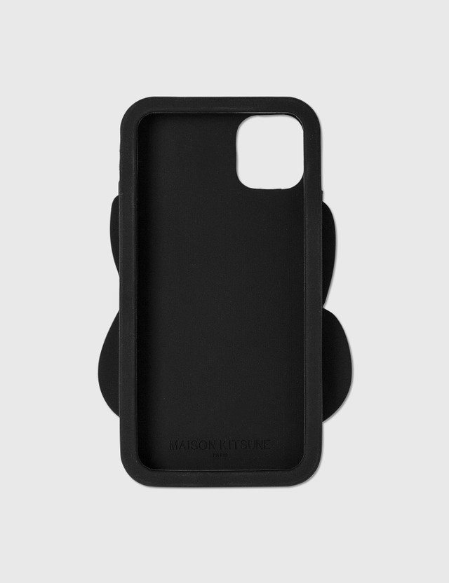 Maison Kitsune Fox Head Silicone iPhone 11 Case Black Bk Women